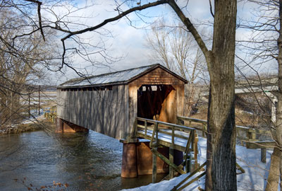 Thompson Mill Covered Bridge from the south