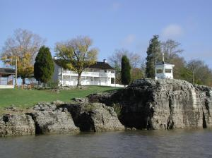 The Historic Rose Hotel overlooking the majestic Ohio River