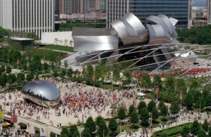 "Cloud Gate ""The Bean"" at Millennium Park (Photo Credit: City of Chicago, Peter J. Schulz)"