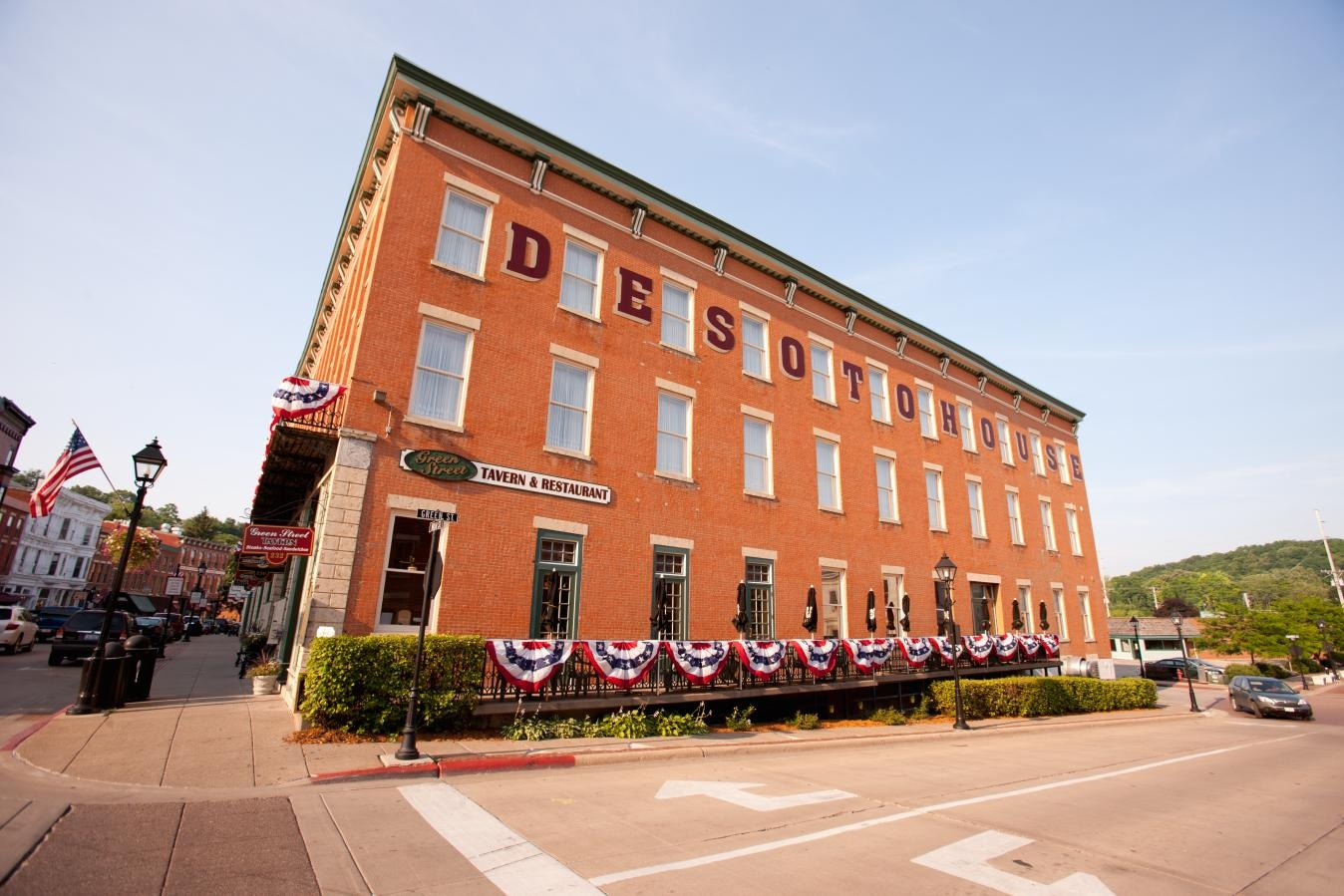 The DeSoto House Hotel located in the heart of downtown Galena